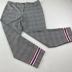 Emporio Armani Prince of Wales Plaid Pants Size
